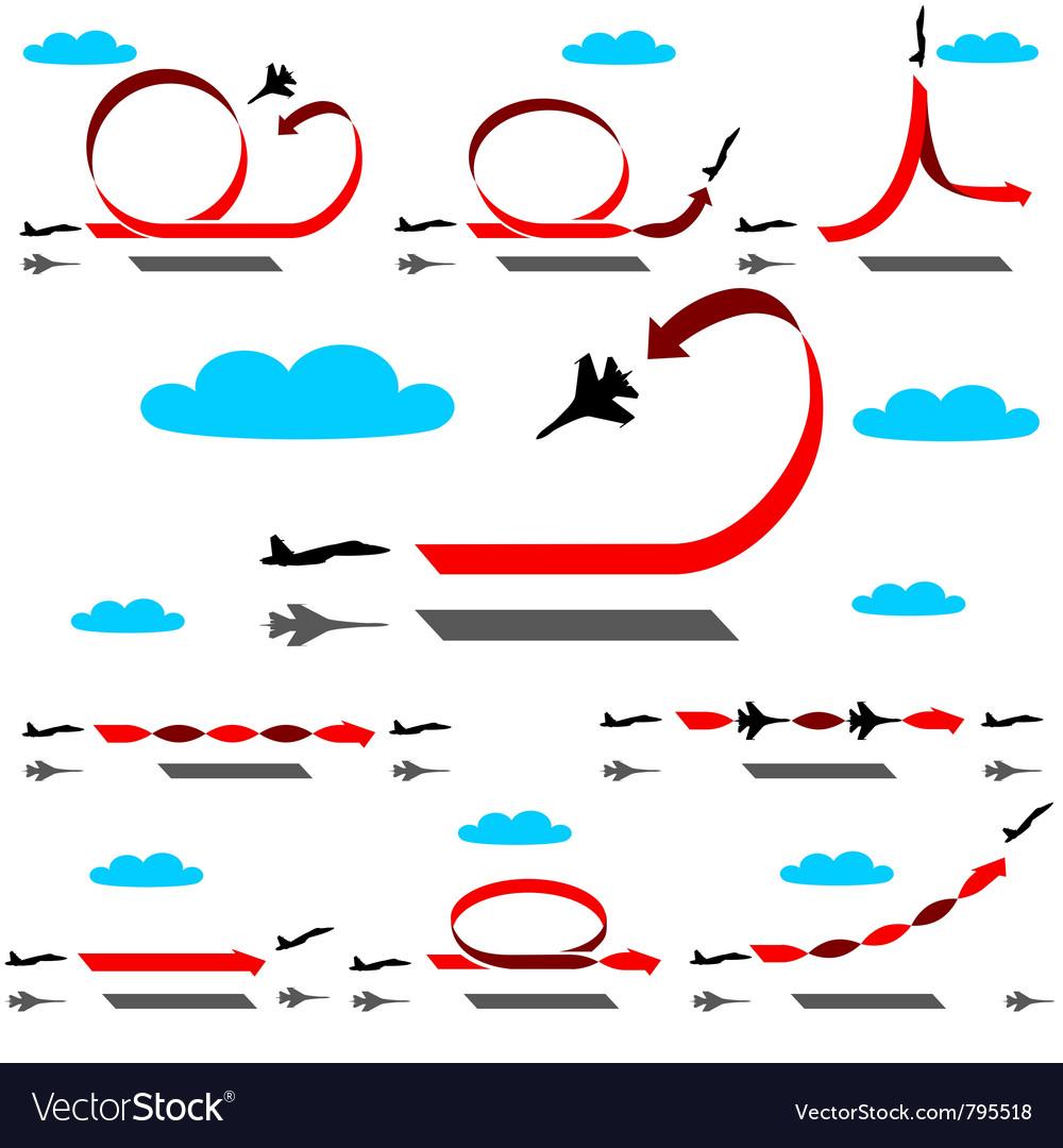 Aerobatics vector | Price: 1 Credit (USD $1)
