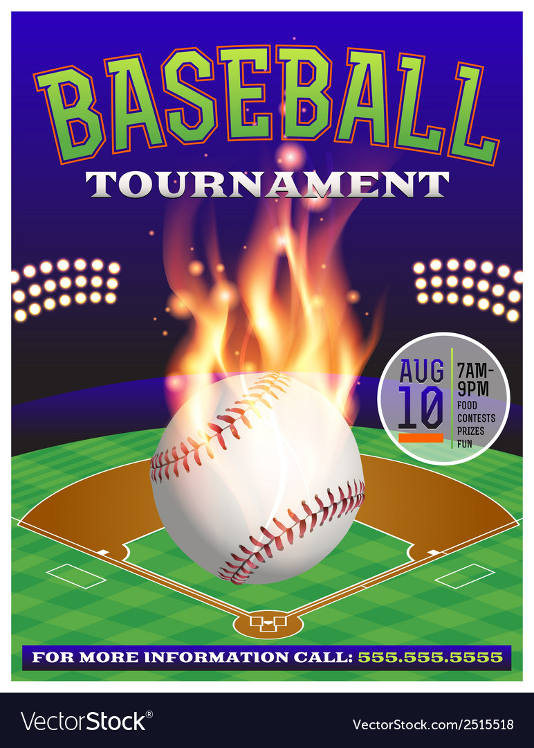 Baseball tournament flyer 3 vector | Price: 1 Credit (USD $1)