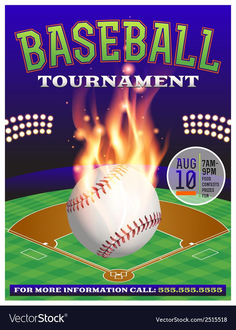 Baseball tournament flyer 3 vector | Price: 1 Credit (USD $1)
