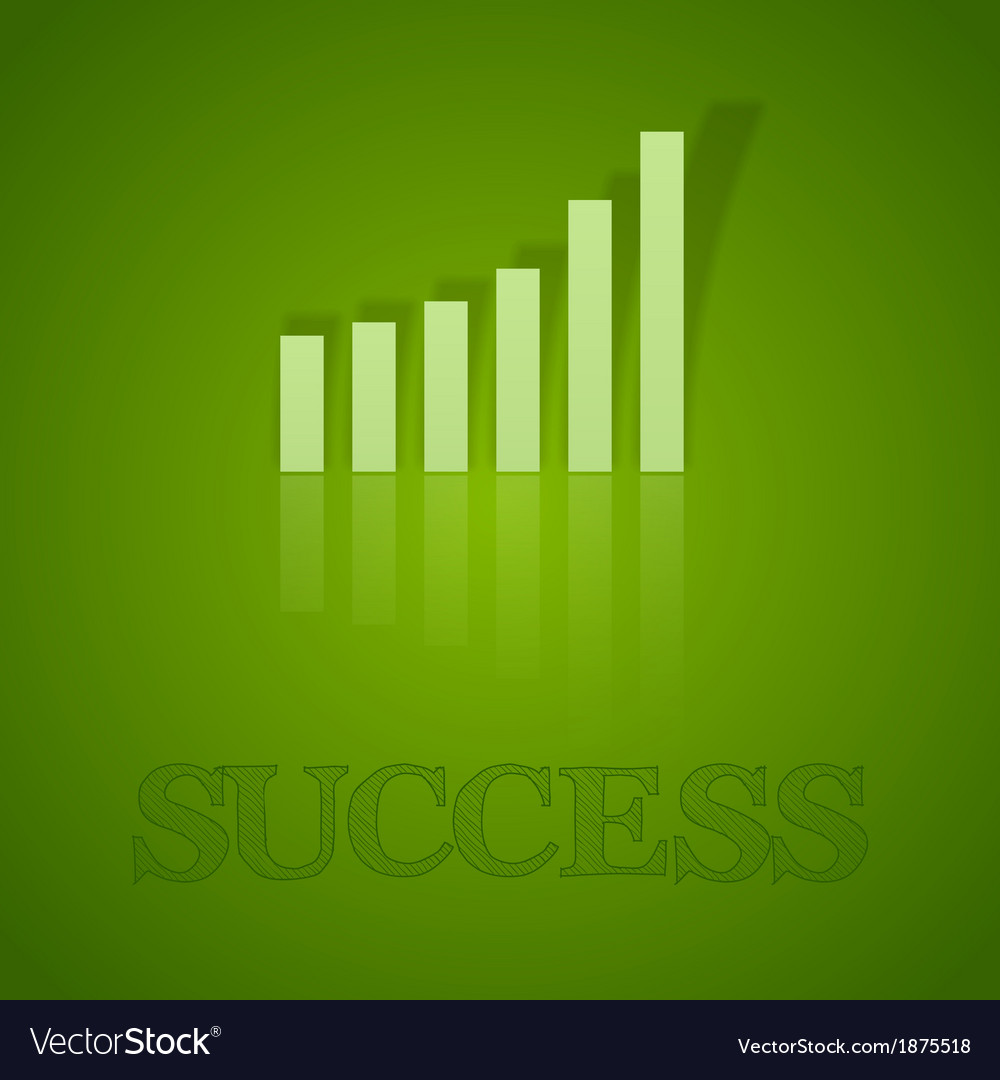 Business graph up with text vector | Price: 1 Credit (USD $1)