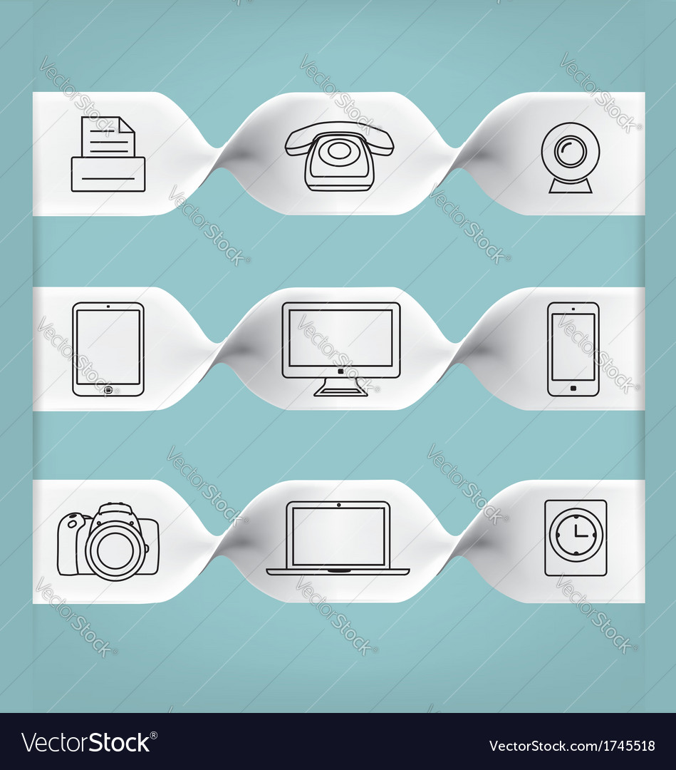 Cool icon set vector | Price: 1 Credit (USD $1)