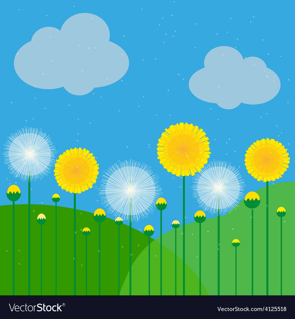 Dandelions vector | Price: 1 Credit (USD $1)