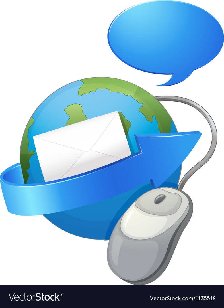 Earth arrow envelop and a mouse vector   Price: 1 Credit (USD $1)