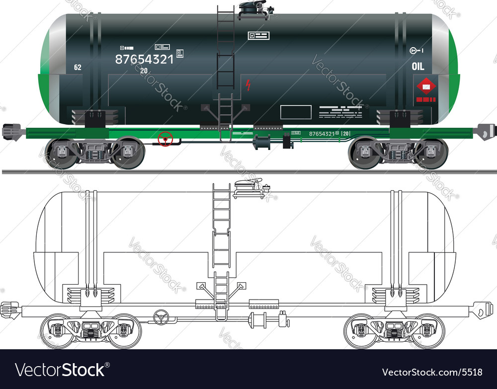 Oil gasoline tanker car vector | Price: 3 Credit (USD $3)