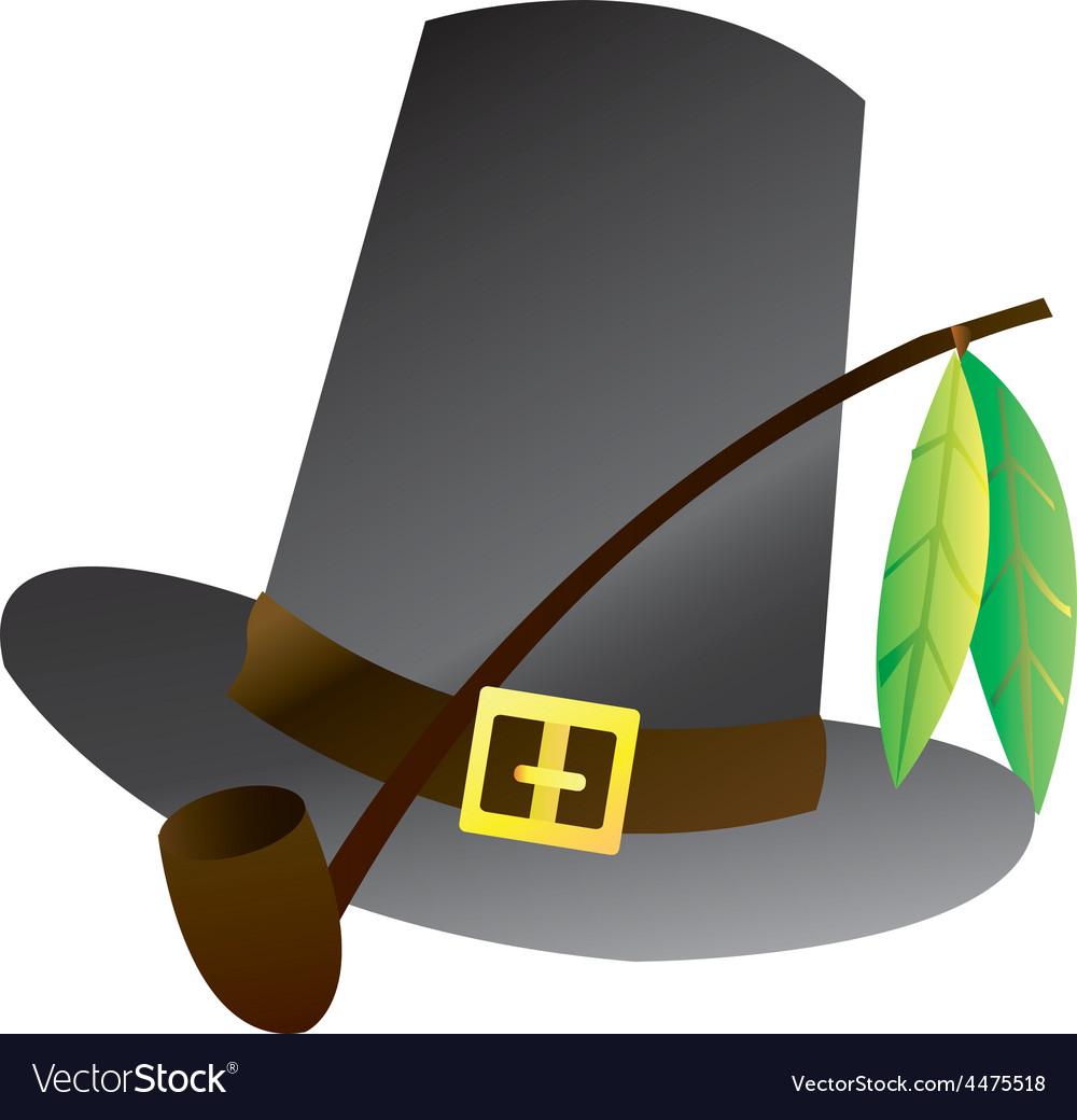 Pilgrim hat vector | Price: 1 Credit (USD $1)