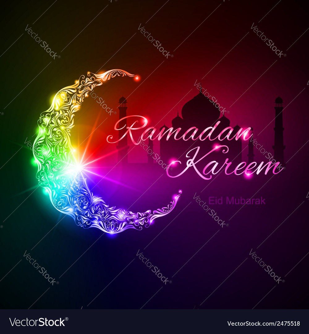 Ramadan kareem greeting card vector | Price: 1 Credit (USD $1)