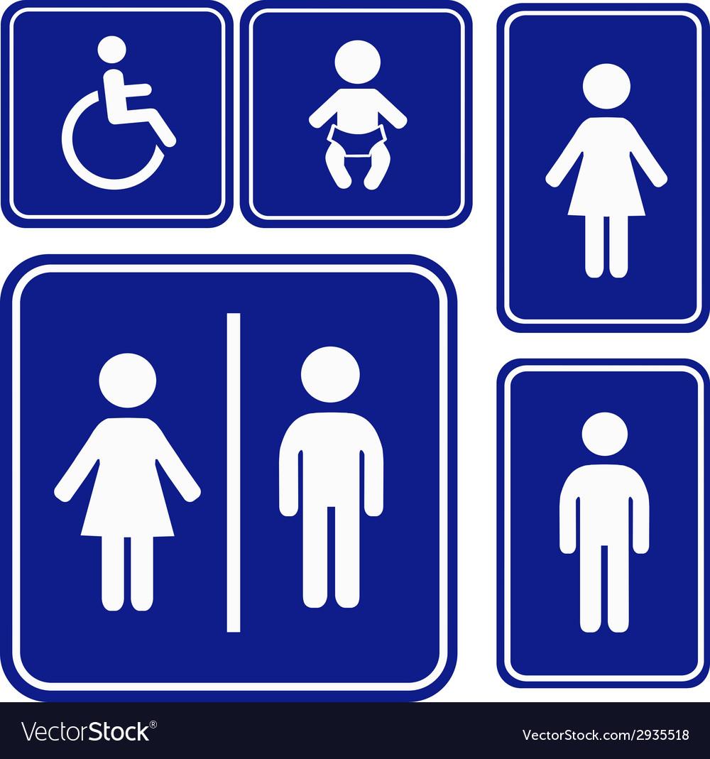 Toilette sign vector   Price: 1 Credit (USD $1)
