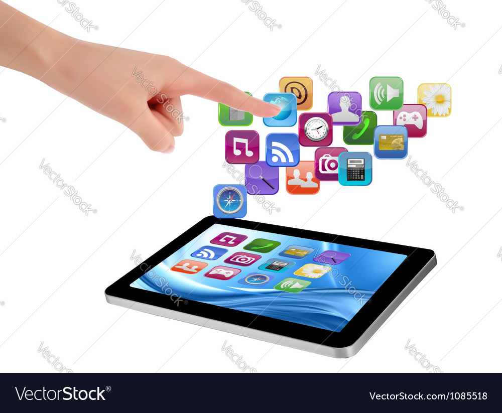 Touch tablet user interface vector | Price: 3 Credit (USD $3)