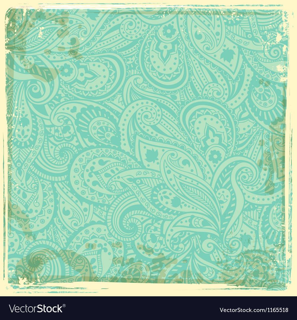 Vintage paisley background vector | Price: 1 Credit (USD $1)