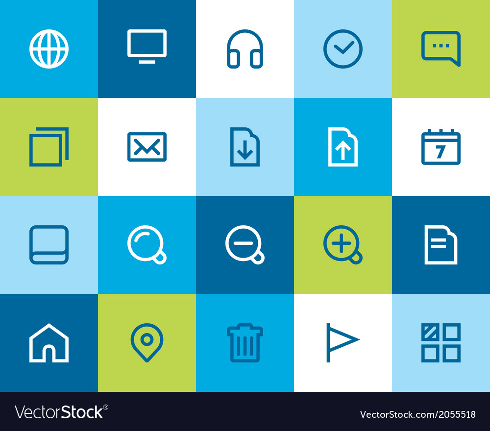 Web and internet icons flat vector | Price: 1 Credit (USD $1)