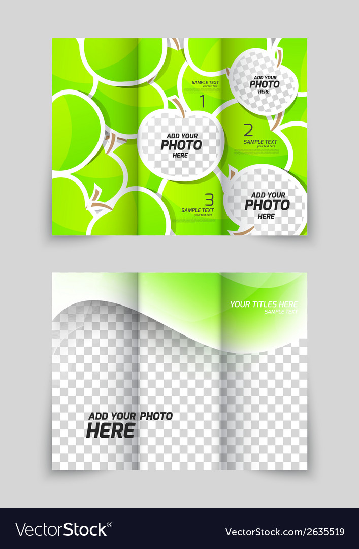 Apple brochure vector | Price: 1 Credit (USD $1)