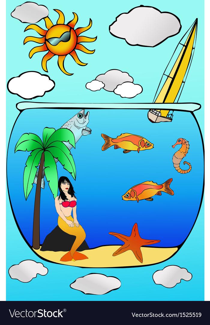 Beach holidays vector | Price: 1 Credit (USD $1)