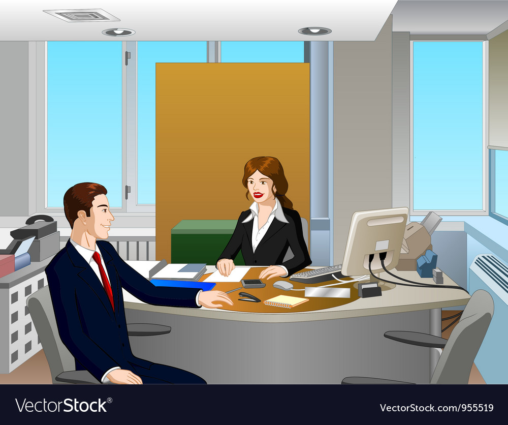 Business interview vector | Price: 3 Credit (USD $3)