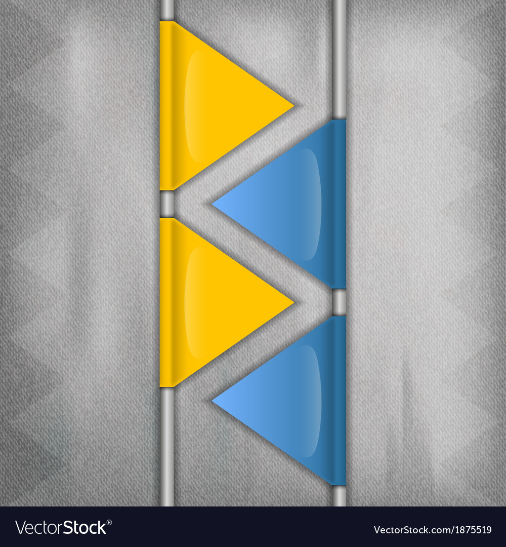 Business triangles blue yellow vector | Price: 1 Credit (USD $1)