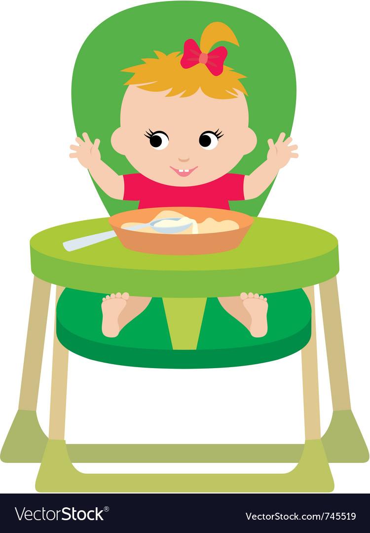Child eats vector | Price: 1 Credit (USD $1)