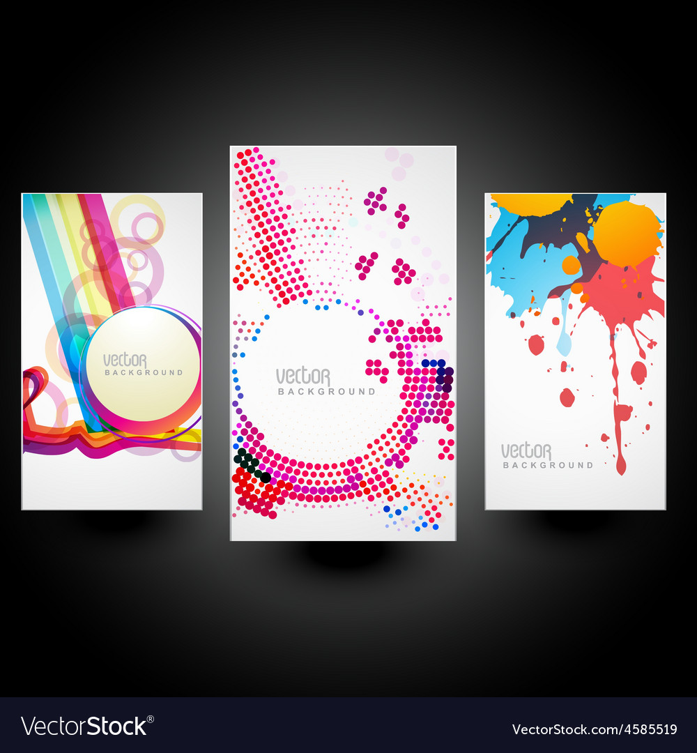 Creative abstract cards vector | Price: 1 Credit (USD $1)