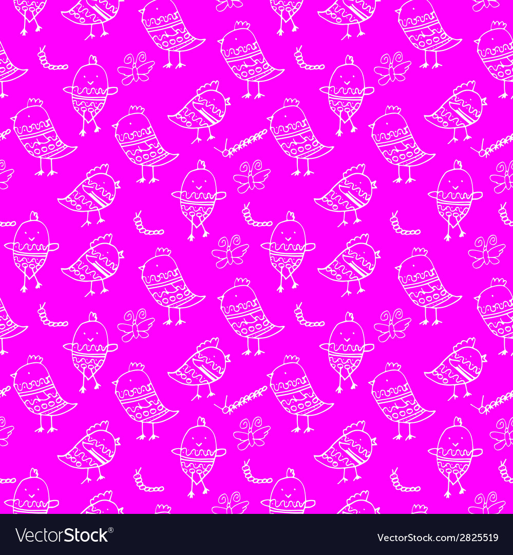 Cute colorful floral seamless pattern with owl and vector | Price: 1 Credit (USD $1)