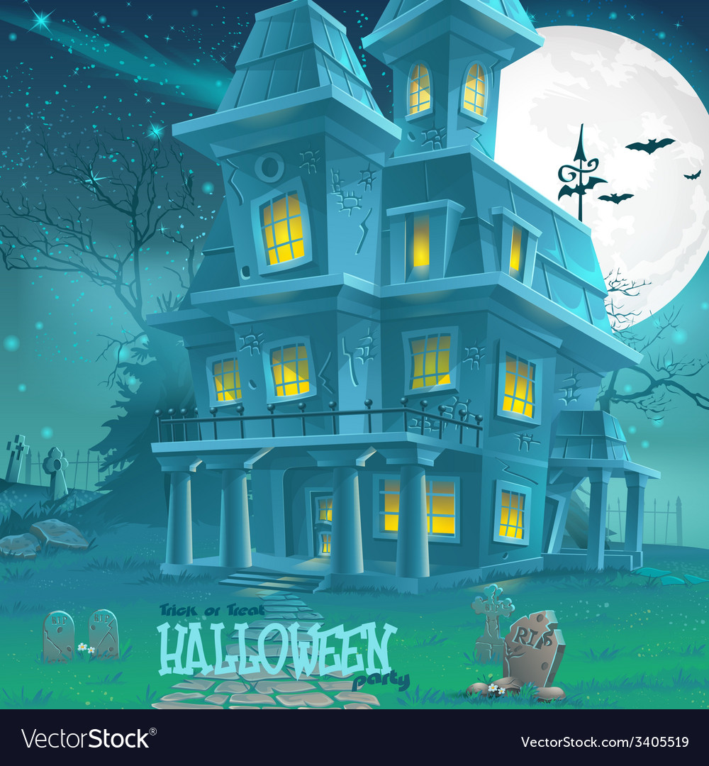 For halloween haunted house for a party vector | Price: 5 Credit (USD $5)