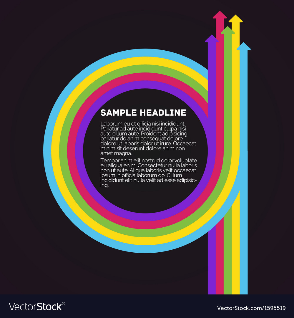 Infographics template colorful circle arrows vector | Price: 1 Credit (USD $1)