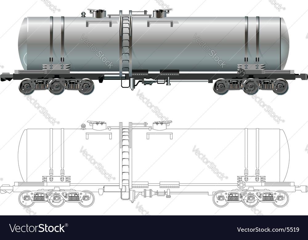 Oil gasoline tanker car vector | Price: 3 Credit (USD $3)