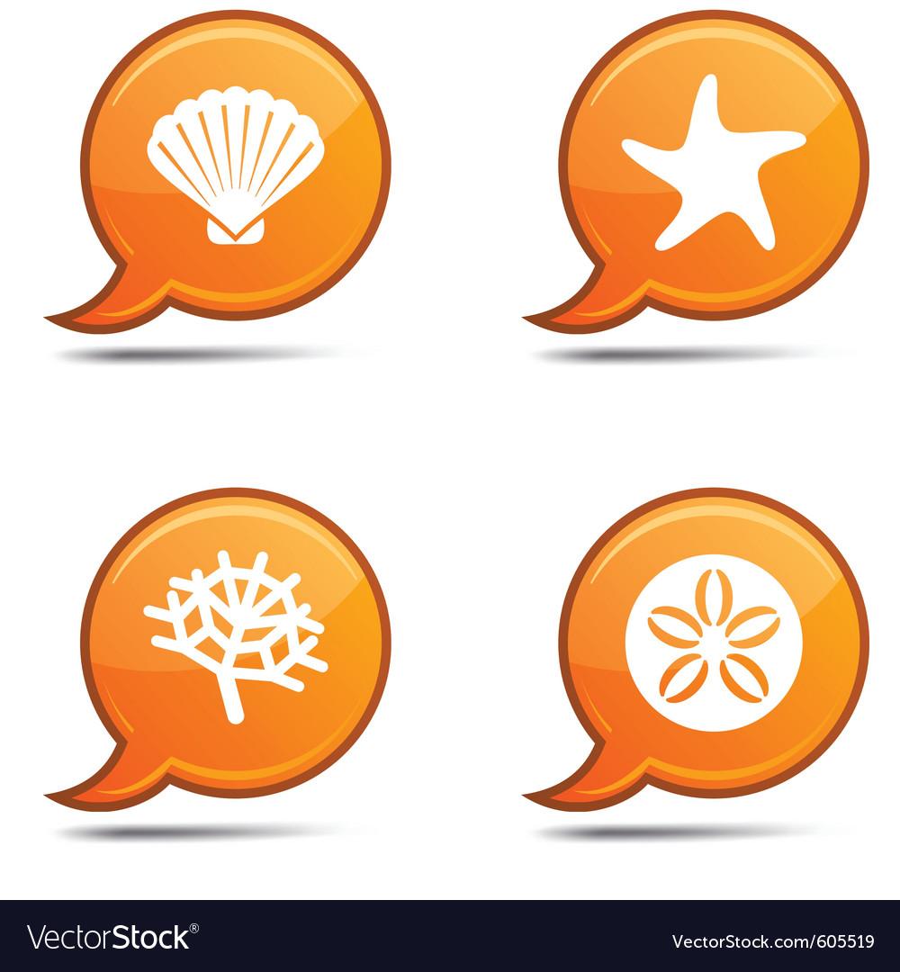 Sea icons vector | Price: 1 Credit (USD $1)