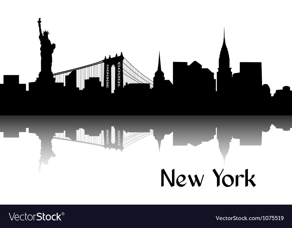 Silhouette of new york vector