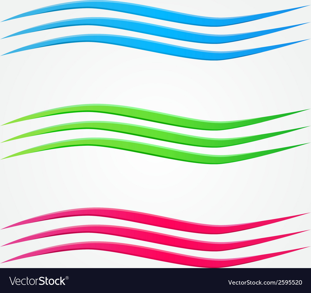 Abstract colorful business wave line set vector   Price: 1 Credit (USD $1)