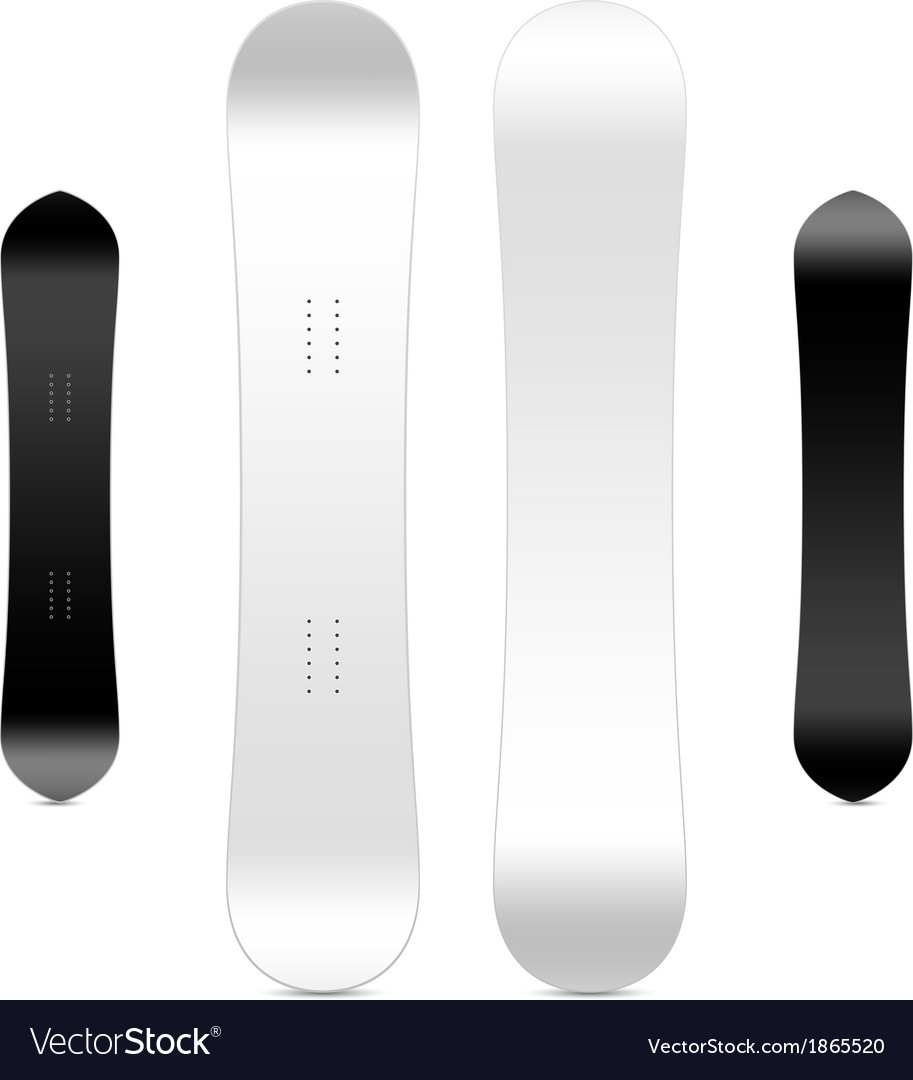 Blank snowboard template vector | Price: 1 Credit (USD $1)