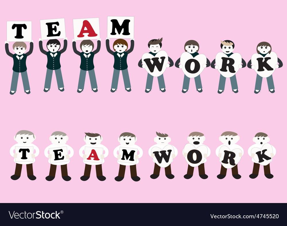 Business teamwork cartoon vector   Price: 1 Credit (USD $1)