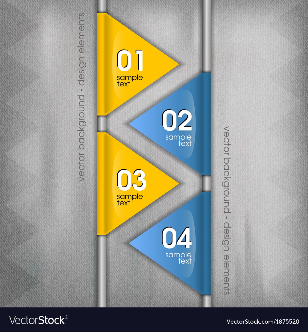 Business triangles blue yellow with text vector | Price: 1 Credit (USD $1)