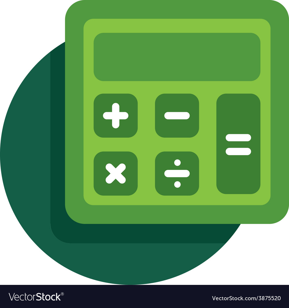 Calculator icon vector   Price: 1 Credit (USD $1)