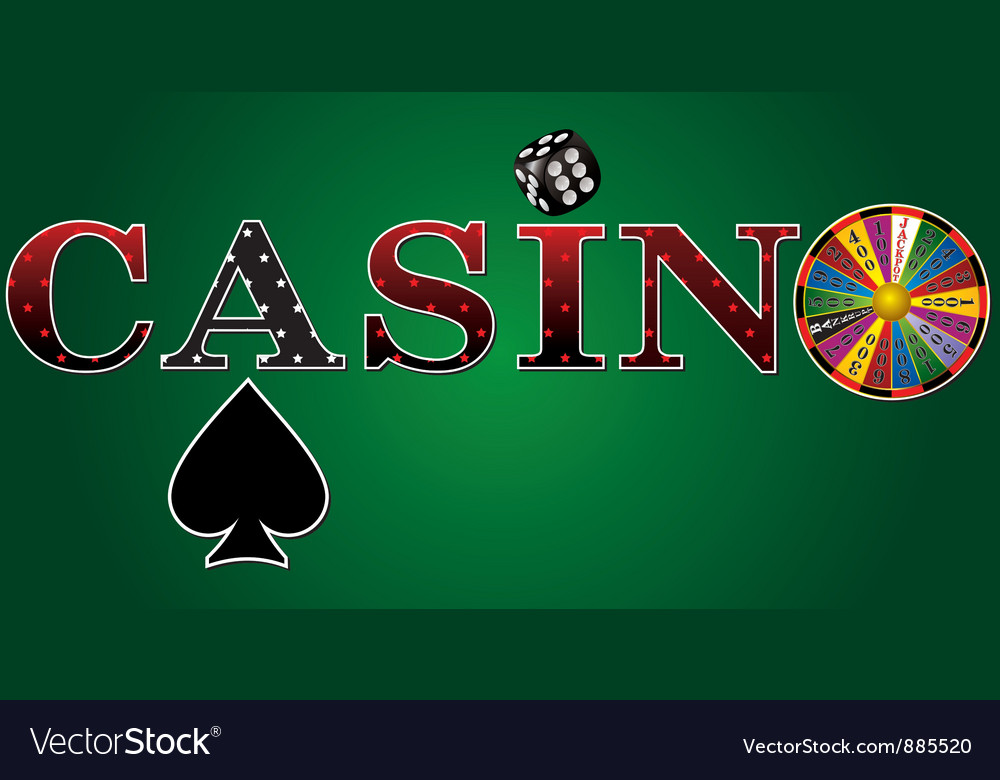 Casino sign green fort vector | Price: 1 Credit (USD $1)
