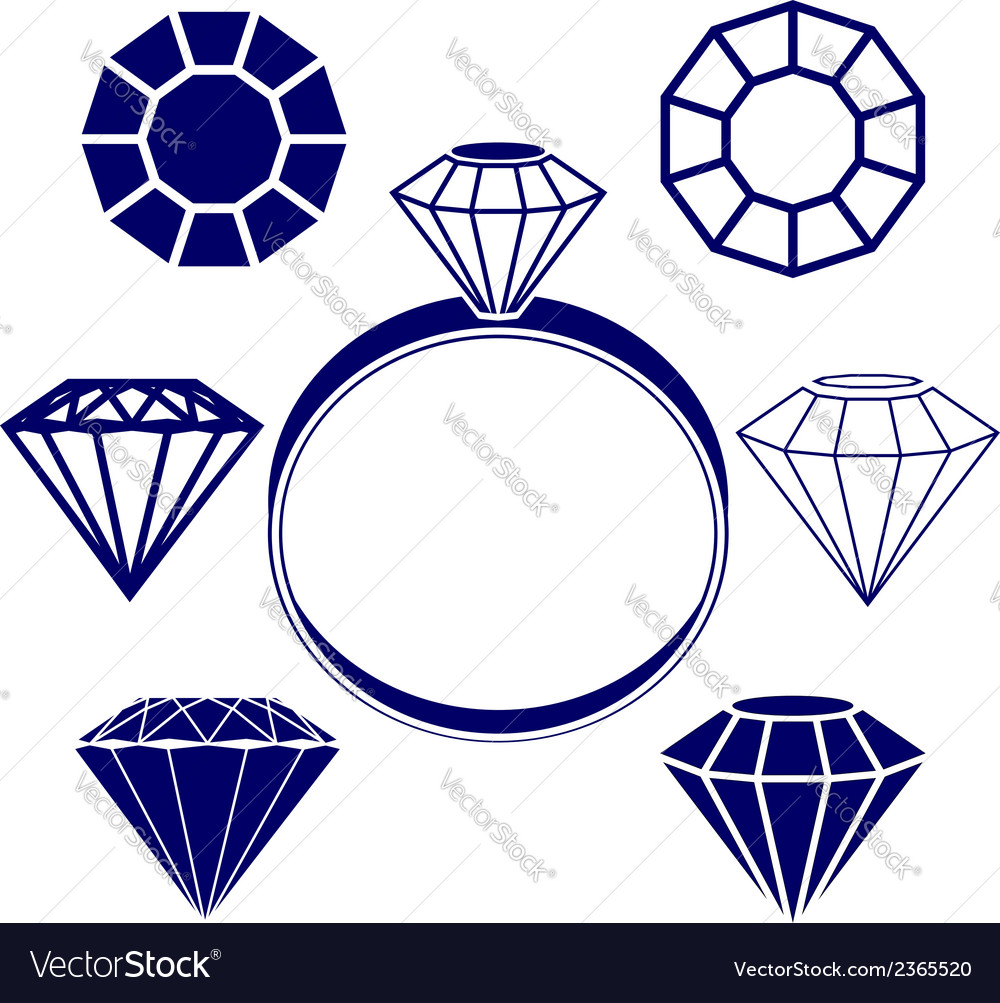 Diamond symbols vector | Price: 1 Credit (USD $1)