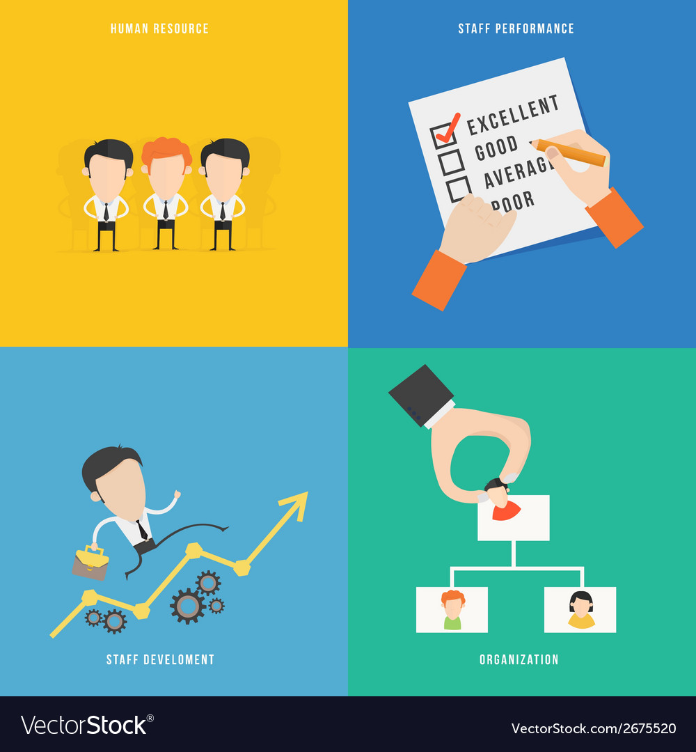 Element of human resource concept icon in flat vector | Price: 1 Credit (USD $1)