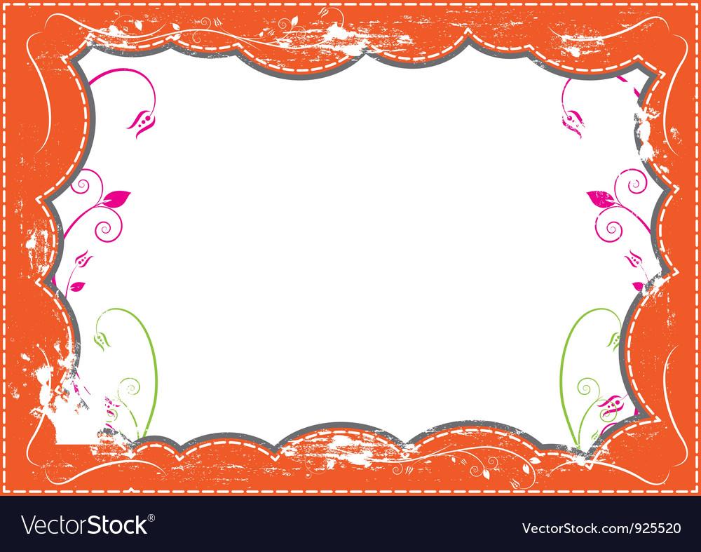 Grunge frame design vector | Price: 1 Credit (USD $1)