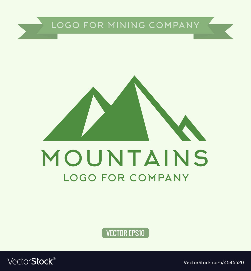 Logo abstract mountain vector | Price: 1 Credit (USD $1)