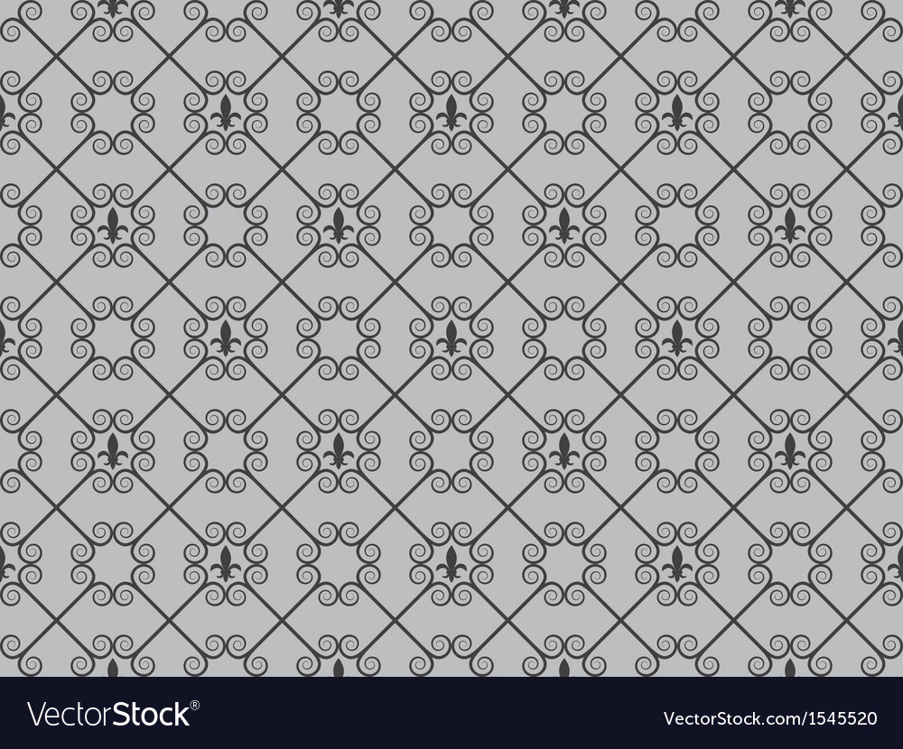Pattern with royal lilies vector | Price: 1 Credit (USD $1)