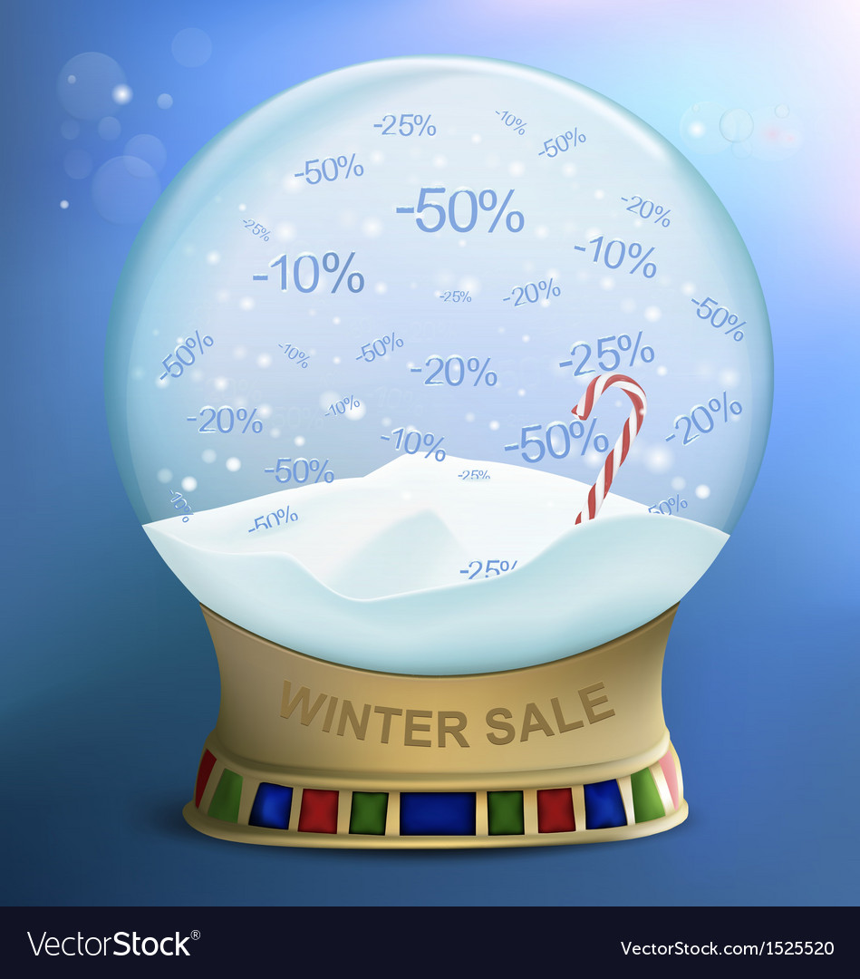 Snow globe discounts vector | Price: 1 Credit (USD $1)