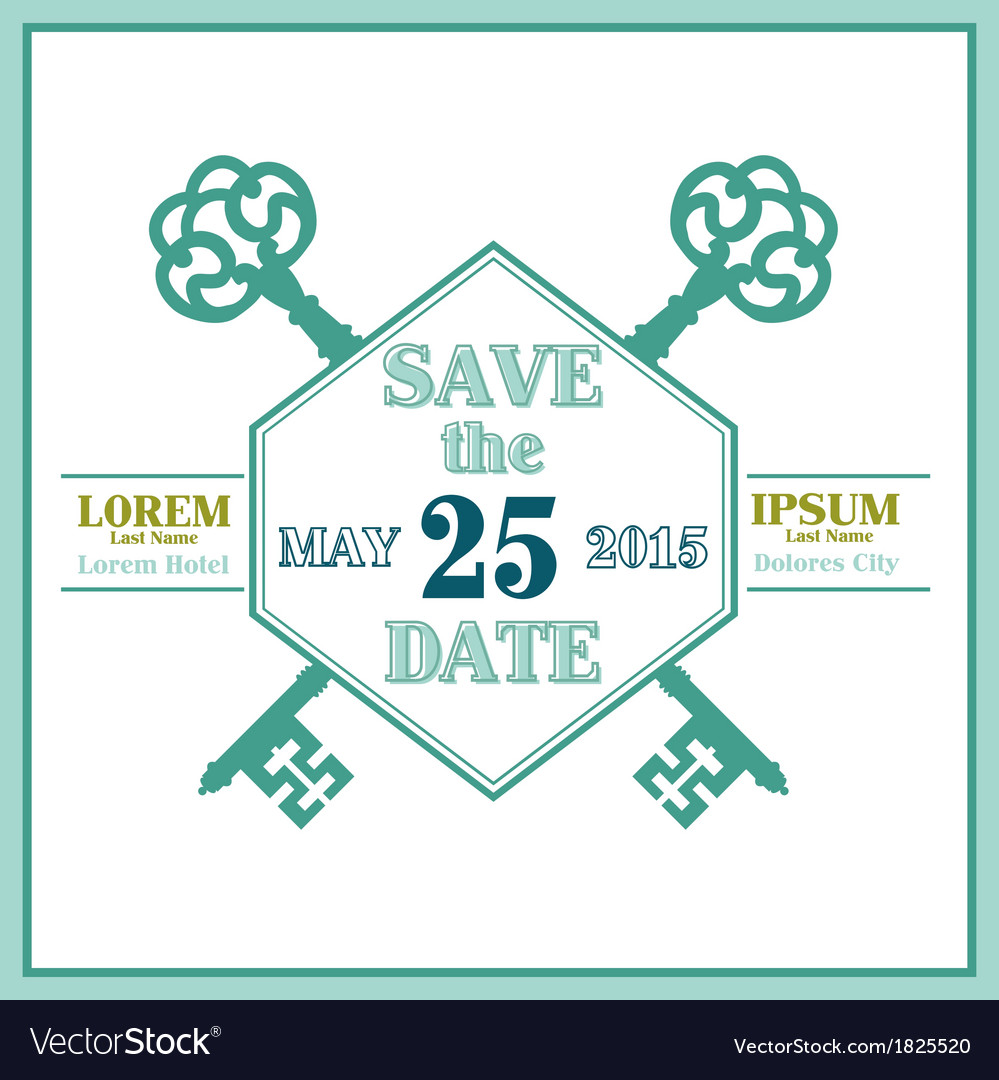 Wedding invitation and save the date card vector | Price: 1 Credit (USD $1)