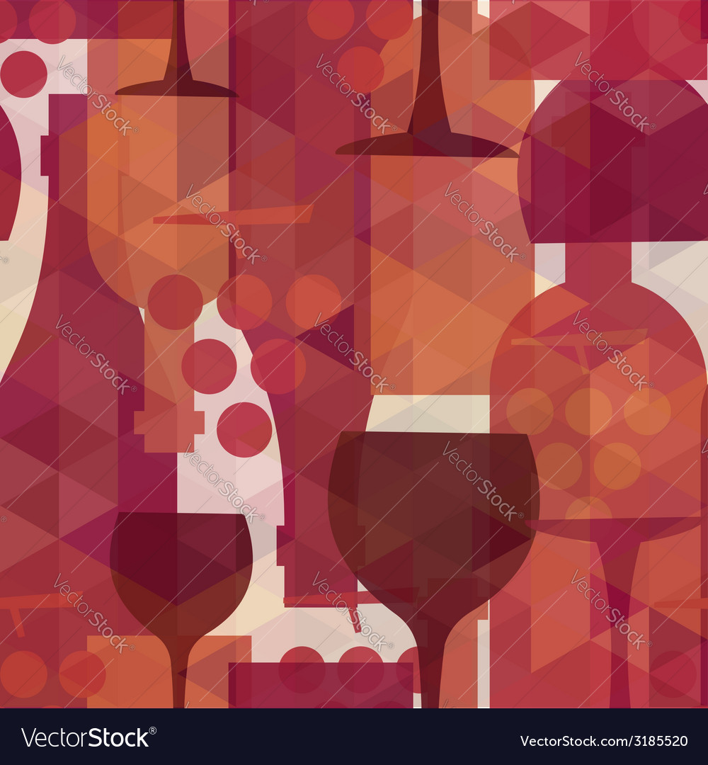 Wine and drink seamless pattern background vector | Price: 1 Credit (USD $1)