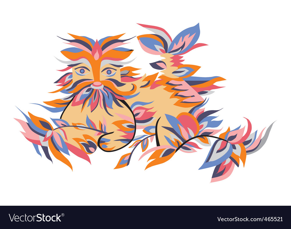 Animals in the leaves vector   Price: 1 Credit (USD $1)