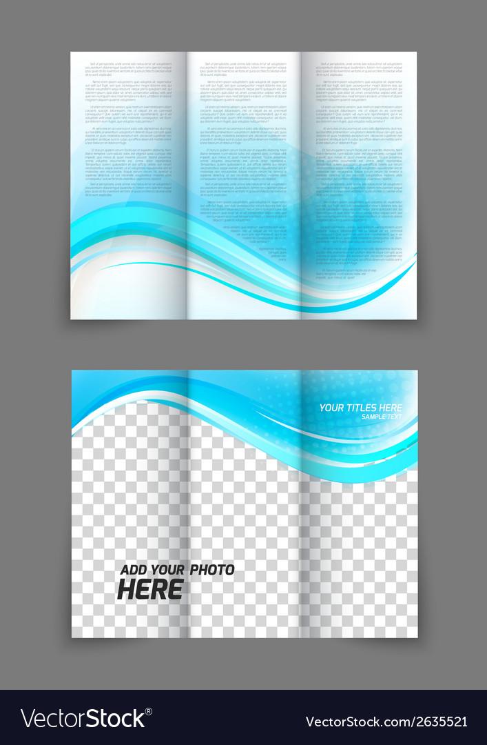 Blue wave brochure vector | Price: 1 Credit (USD $1)