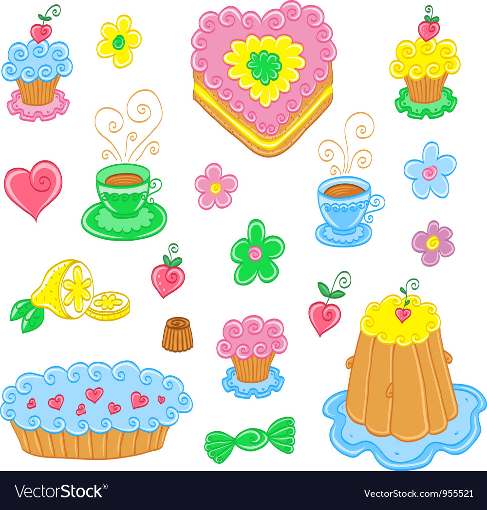 Cartoon food set vector | Price: 1 Credit (USD $1)