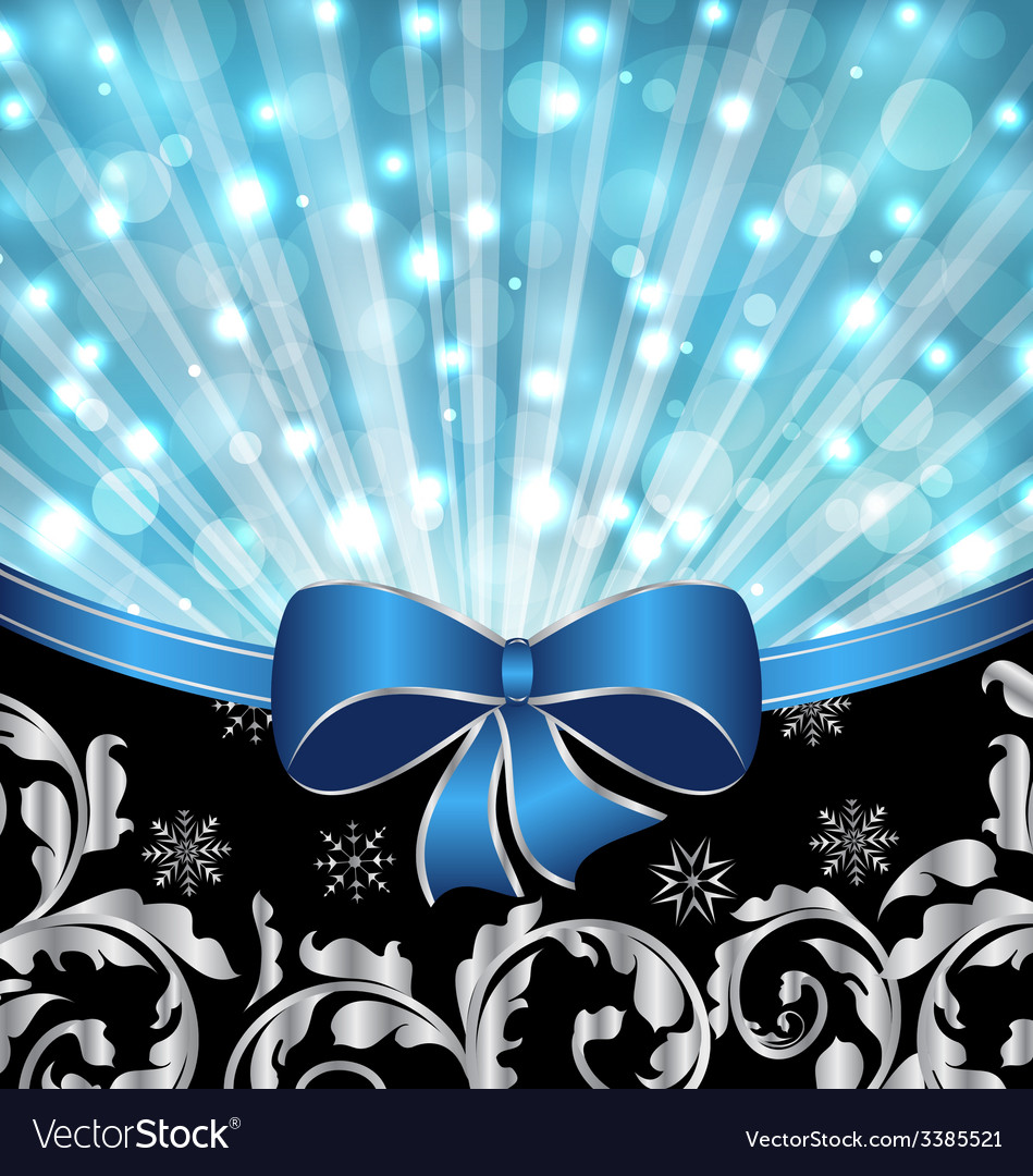 Christmas ornamental background glowing design - vector | Price: 3 Credit (USD $3)