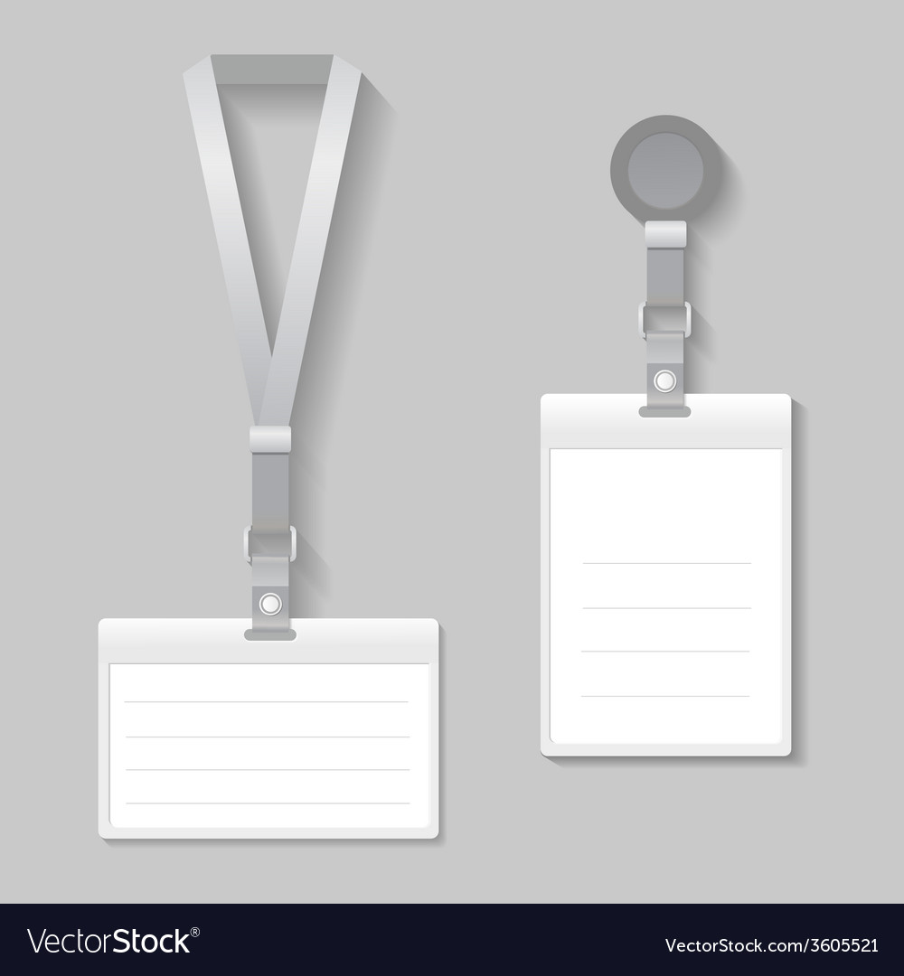 Lanyard name tag holder end badge templates vector | Price: 1 Credit (USD $1)