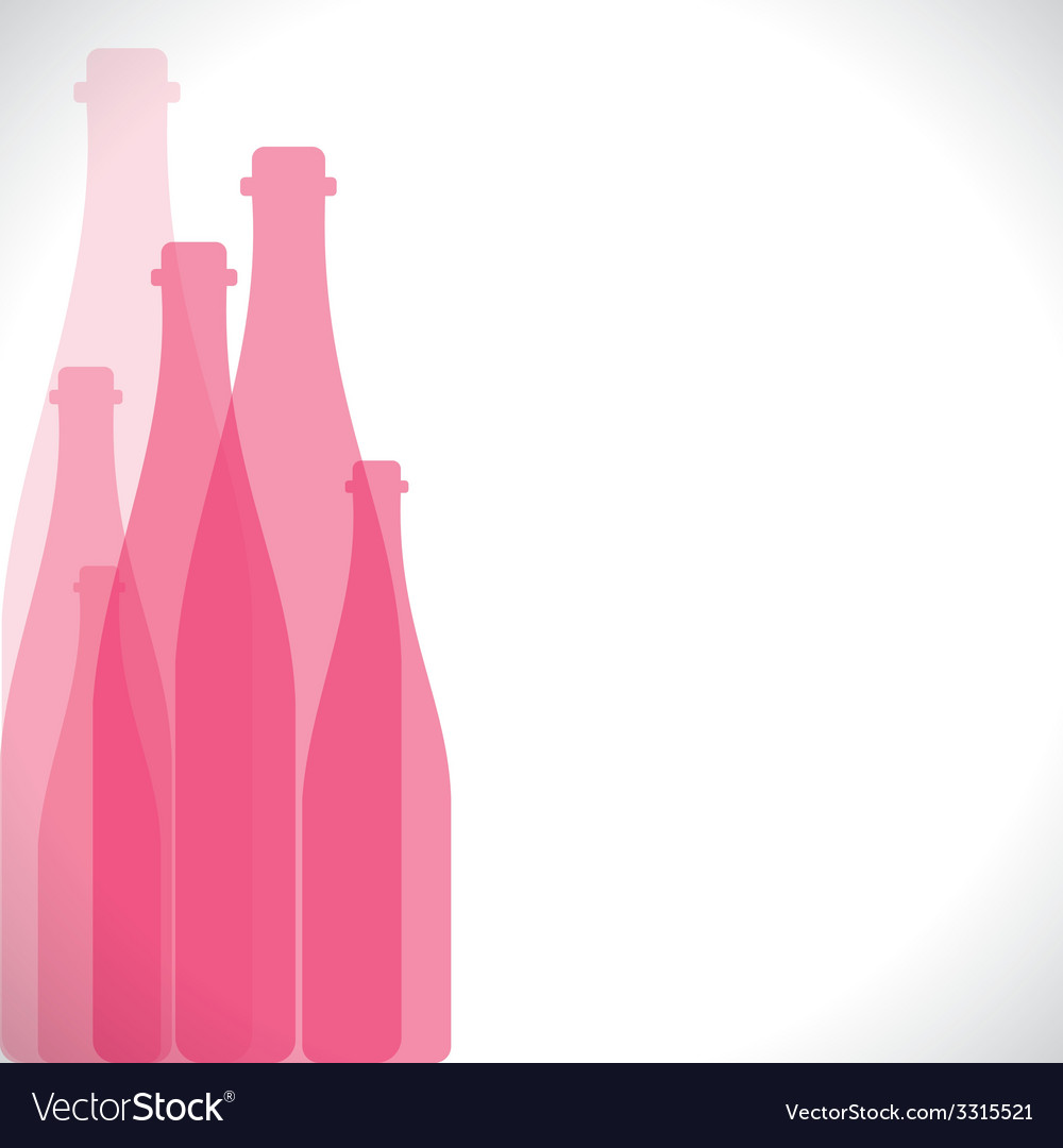 Pink bottle background vector | Price: 1 Credit (USD $1)