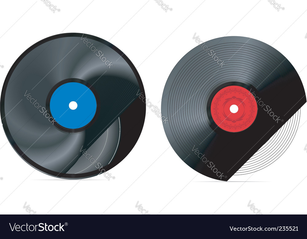 Retro vinyl record vector | Price: 1 Credit (USD $1)