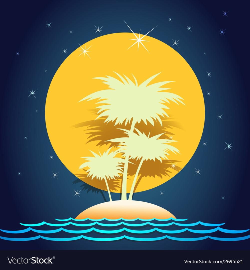 Summer island vector | Price: 1 Credit (USD $1)