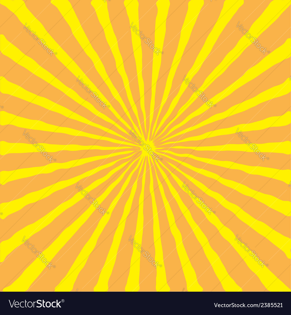Sunburst with ray of light yellow and orange back vector | Price: 1 Credit (USD $1)
