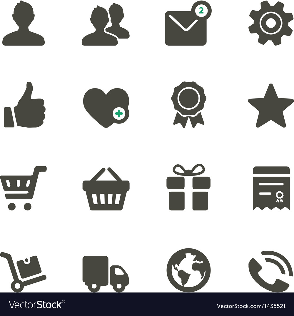 Universal icons set 1 vector | Price: 1 Credit (USD $1)